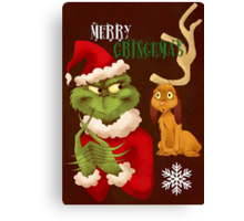 Merry Grinchmas Canvas Print
