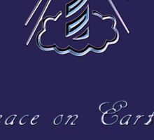 Peace on Earth and Goodwill to All (Blue) Sticker