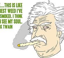 Mark Twain Pot Head by Look Human