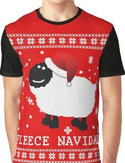 Fleece Navidad Cute Christmas Tshirt Graphic T-Shirt