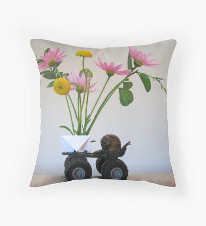 Snail mail Throw Pillow