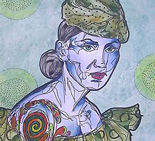 Tattooed Woman In Green by gailmiller