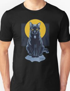 Black Cat With Moon T-Shirt