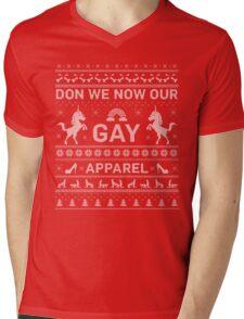 GAY UGLY CHRISTMAS SWEATER Mens V-Neck T-Shirt