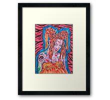 Goth Girl With Big Hair Framed Print