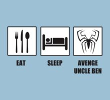 Eat Sleep Avenge Uncle Ben One Piece - Short Sleeve