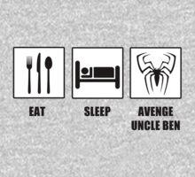 Eat Sleep Avenge Uncle Ben One Piece - Long Sleeve