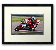 British Superbike rider Barry Burrell Framed Print