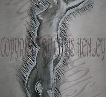 Charcoal study - woman standing by Christoph72