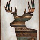 Rustic Reindeer Holiday Card by designerjenb
