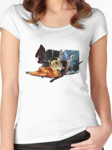 Harry Potter in Watercolour Women's Fitted Scoop T-Shirt