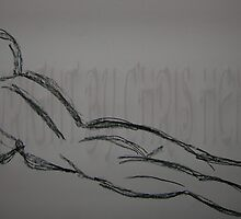 Woman Laying 3 minute Gesture - Charcoal by Christoph72