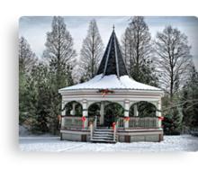 Christmas Gazebo Canvas Print
