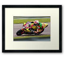 British Superbike rider Tommy Hill Framed Print