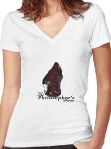 The Philosopher's Stone Women's Fitted V-Neck T-Shirt