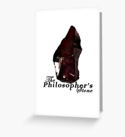 The Philosopher's Stone Greeting Card