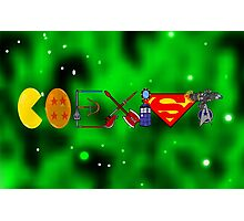 Coexist 2.0 with background Photographic Print