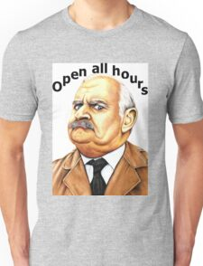 Open all hours - Ronnie Barker plays Arkwright Unisex T-Shirt