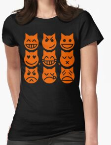 The 9 Lives of the Emoji Cat Womens Fitted T-Shirt