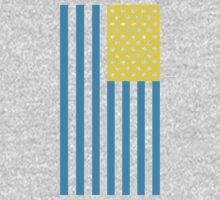 Star Spangled Banner - Yellow/Light Blue by paperboyjim