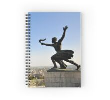 Torch Bearer Statue at the independence memorial, Budapest, Hungary  Spiral Notebook