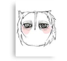 Skeptical owl Canvas Print