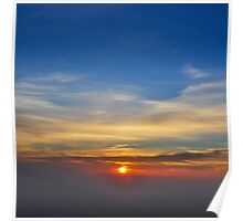 Sun Set as seen from Tiger Hill, Darjeeling, West Bengal, India  Poster
