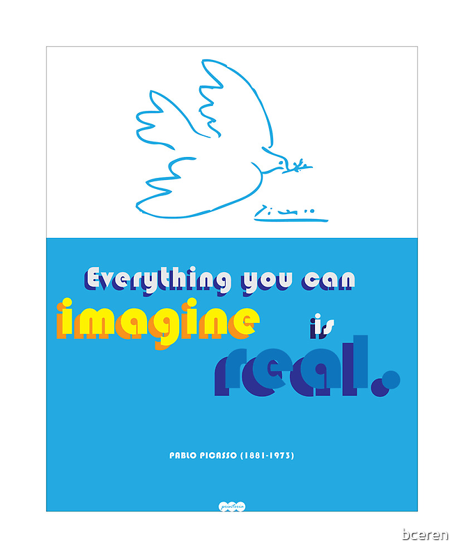 Pablo Picasso quote and illustration  by bceren