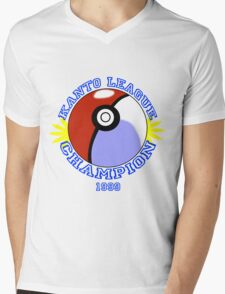 Kanto League Champion Mens V-Neck T-Shirt