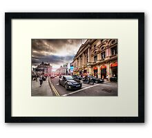 Picadilly Circus Traffic Framed Print