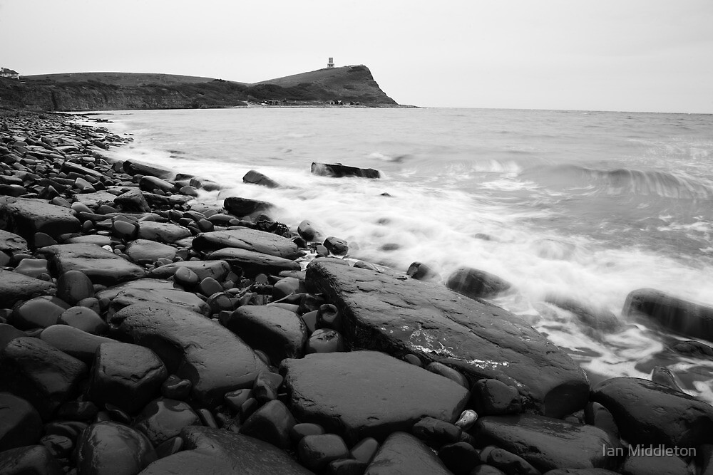 Kimmeridge bay in black and white by Ian Middleton