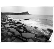 Kimmeridge bay in black and white Poster