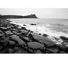 Kimmeridge bay in black and white Photographic Print