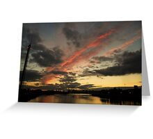 Dusk On The Clyde Greeting Card