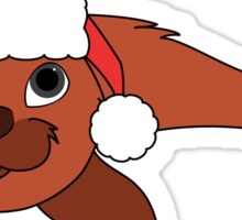 Red Baby Seal with Christmas Red Santa Hat Sticker