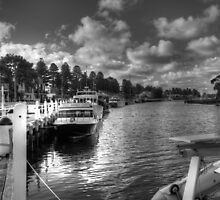Port Fairy Harbour BW by DavidsArt