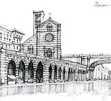 Genova Via Venti Settembre by Luca Massone  disegni