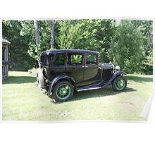 1930 Model-A Town Car Poster