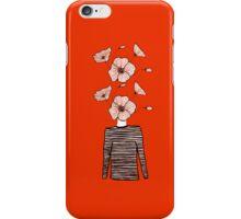 Flower head/striped sweater iPhone Case/Skin