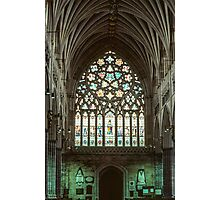 Stained glass window Exeter Cathedral 19810114 0009 Photographic Print
