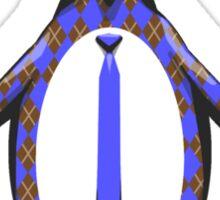 Argyle Penguin Sticker