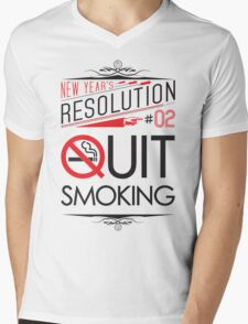 New Year's Resolution #2 - Quit smoking Mens V-Neck T-Shirt