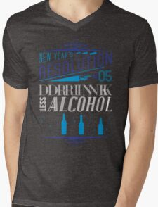 New Year's Resolution #5 - Drink less alcohol Mens V-Neck T-Shirt