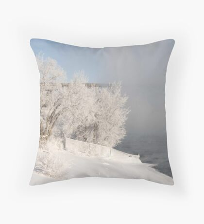 North Saskatchewan River, Canada Throw Pillow