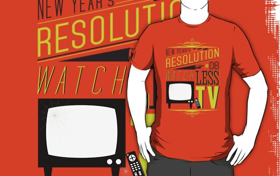 New Year's Resolution #8 - Watch less TV by Viktor Hertz