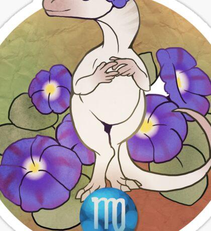 Virgo Dinosaur Zodiac Sticker