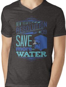 New Year's Resolution #9 - Save more water Mens V-Neck T-Shirt