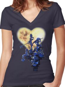 Kingdom Hearts Women's Fitted V-Neck T-Shirt