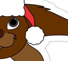 Brown Baby Seal with Christmas Red Santa Hat Sticker