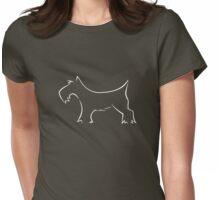 Schnauzer - white Womens Fitted T-Shirt